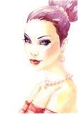 Portret van elegante vrouw Royalty-vrije Stock Afbeelding
