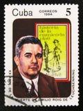 Portret van Emilio Roig de Leuchsenring 1889-1964, historicus, 20 verjaardag van de dood, circa 1984 stock afbeelding
