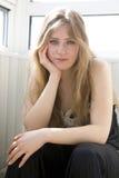 Portret van ernstig tienermeisje Royalty-vrije Stock Foto's