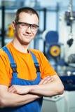 Portret van ervaren fabrieksarbeider royalty-vrije stock foto