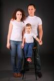 Portret van familie in studio Royalty-vrije Stock Foto's