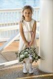 Portret van flowergirl. Stock Fotografie