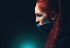 Portret van futuristische vrouwen Stock Afbeeldingen