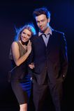 Portret van gehuwd gelukkig Stock Foto