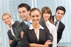 Portret van gelukkig commercieel team Royalty-vrije Stock Foto's