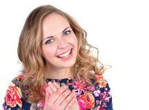 Portret van gelukkig jong meisje royalty-vrije stock afbeeldingen