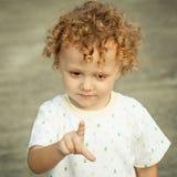 Portret van gelukkig kind Stock Afbeeldingen