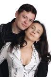 Portret van gelukkig paar. Stock Foto's