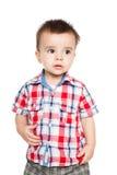 Portret van gelukkig weinig jongen Stock Foto