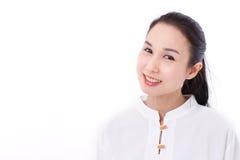 Portret van gelukkige Aziatische vrouw met litteken Stock Foto's