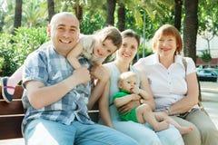 Portret van gelukkige familie van meerdere generaties Royalty-vrije Stock Afbeelding