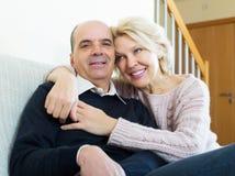 Portret van gelukkige hogere echtgenoten Royalty-vrije Stock Afbeelding