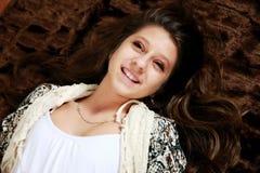 Portret van gelukkige tiener royalty-vrije stock foto's