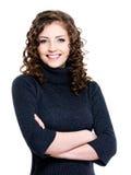 Portret van gelukkige vrouw royalty-vrije stock foto's