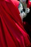 Portret van Georgisch meisje in traditioneel kostuum Royalty-vrije Stock Foto