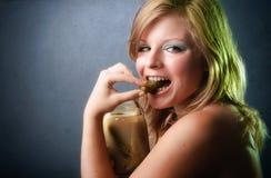 Portret van gezonde jonge vrouw Stock Fotografie