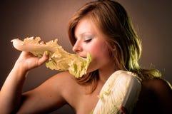 Portret van gezonde jonge vrouw Royalty-vrije Stock Foto's