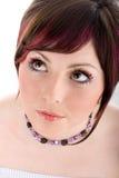 Portret van gezonde vrouw met lange wimpers Royalty-vrije Stock Afbeelding