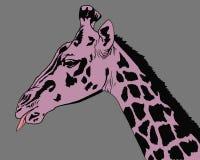 Portret van giraf vector illustratie