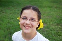 Portret van glimlachend meisje royalty-vrije stock foto's