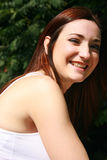 Portret van glimlachend meisje Stock Afbeeldingen