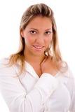 Portret van glimlachende advocaat die camera bekijkt Stock Foto