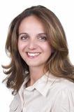 Portret van glimlachende bedrijfsvrouw, Stock Foto's