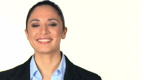 Portret van glimlachende bedrijfsvrouw stock footage