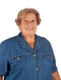 Portret van glimlachende oude vrouw Royalty-vrije Stock Foto