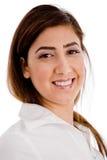 Portret van glimlachende stafmedewerker Stock Fotografie