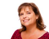Portret van glimlachende vrolijke vrouw op middelbare leeftijd Stock Afbeeldingen