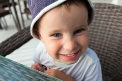 Portret van grappige jongen Royalty-vrije Stock Fotografie