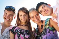 Portret van groep vrienden