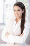 Portret van het aantrekkelijke student glimlachen Royalty-vrije Stock Afbeeldingen