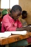 Portret van het Afrikaanse schoolmeisje Royalty-vrije Stock Afbeelding