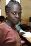 Portret van het Afrikaanse schoolmeisje Stock Foto's