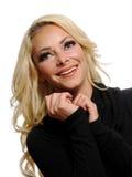 Portret van het blonde vrouw stellen Royalty-vrije Stock Foto's