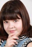 Portret van het donkerbruine meisje Stock Afbeelding