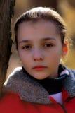 Portret van het droevige meisje Royalty-vrije Stock Afbeelding