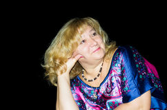 Portret van het dromen van vrouw Royalty-vrije Stock Afbeelding