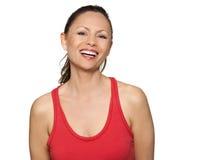 Portret van het gelukkige mooie Aziatische vrouw lachen Royalty-vrije Stock Foto
