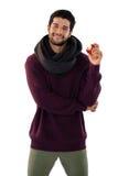 Portret van het glimlachen van de appel van de mensenholding Royalty-vrije Stock Fotografie