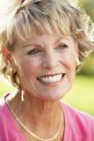 Portret van het Hogere Glimlachen van de Vrouw Stock Foto's