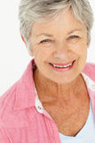 Portret van het hogere vrouw glimlachen royalty-vrije stock fotografie