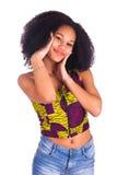 Portret van het Jonge Afrikaanse Vrouw Glimlachen Royalty-vrije Stock Foto
