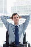 Portret van het jonge manager ontspannen Stock Afbeeldingen