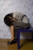 Portret van het jonge vrouw gedeprimeerd kijken Royalty-vrije Stock Foto