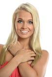 Portret van het jonge vrouw glimlachen Royalty-vrije Stock Afbeelding