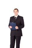 Portret van het jonge zakenman glimlachen royalty-vrije stock foto's
