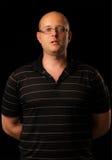 Portret van het Kaukasische mens spreken Stock Foto